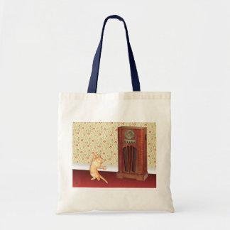 Dancing Cat Canvas Bag