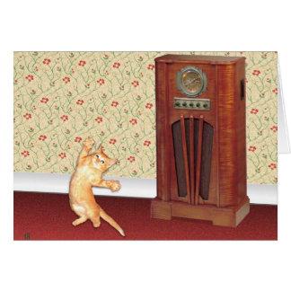 Dancing Cat Greeting Cards