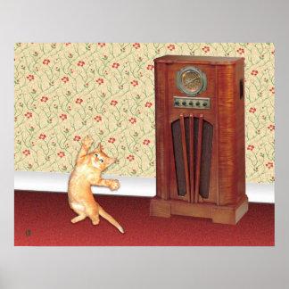 Dancing Cat Poster