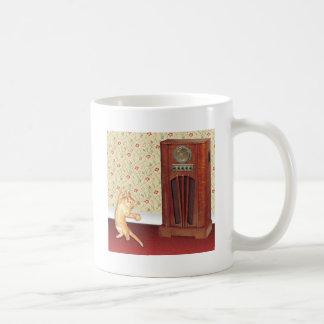 dancing cat square.jpg classic white coffee mug