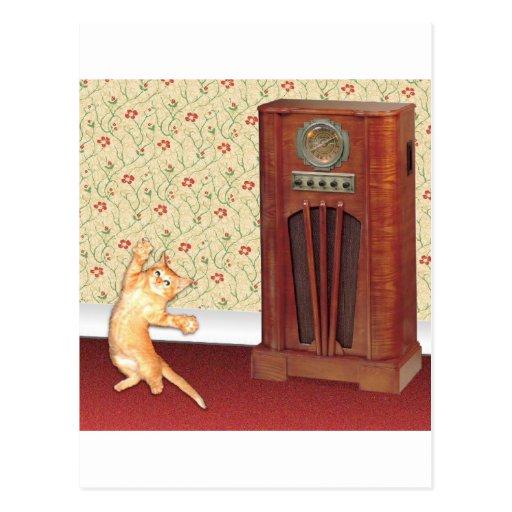 dancing cat square.jpg post cards