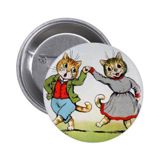 Dancing Cats 2 Inch Round Button
