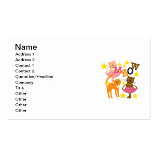 Dancing Cats Business Card Template