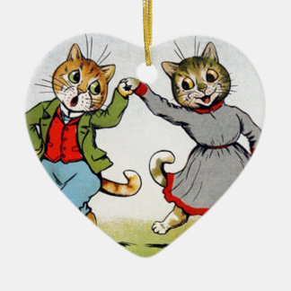 Dancing Cats Christmas Tree Ornament