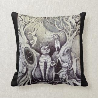 dancing cats cushion moon & stars pillow