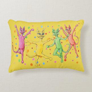 Dancing Cats Decorative Pillow