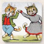 Dancing Cats Drink Coaster