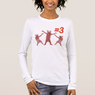 dancing cats equals 3 long sleeve T-Shirt
