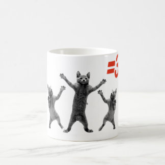 dancing cats equals three nc coffee mugs