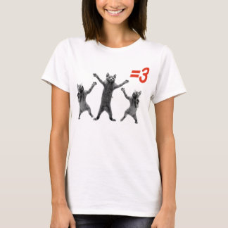 dancing cats equals three nc T-Shirt