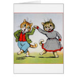 Dancing Cats Greeting Cards