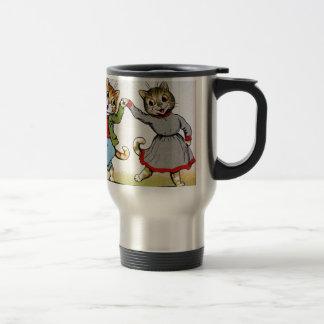 Dancing Cats 15 Oz Stainless Steel Travel Mug
