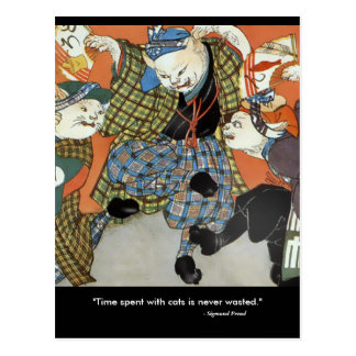 Dancing Cats Postcard