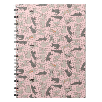 Dancing Cats With Paw Prints Notebook