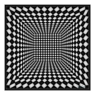 Dancing Checkered Lights Poster