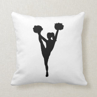 Dancing cheerleader girl throw pillow