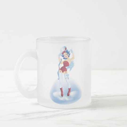 Dancing Cherubim Frosted Glass Coffee Mug