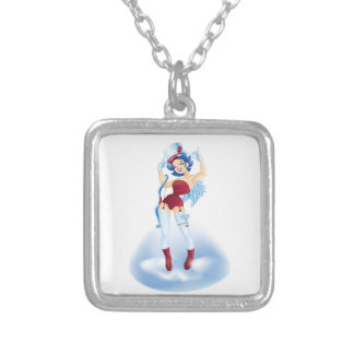 Dancing Cherubim Silver Plated Necklace
