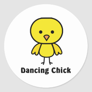 Dancing Chick Classic Round Sticker