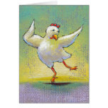 Dancing chicken - awesome modern dance art greeting cards