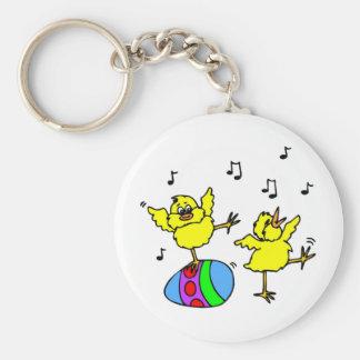 Dancing chickens keychain