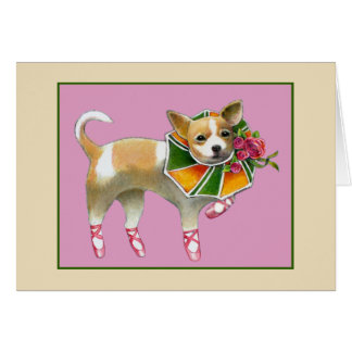 Dancing Chihuahua Notecard Stationery Note Card