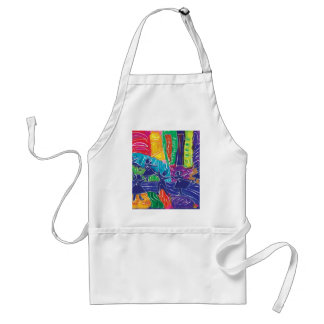 Dancing children adult apron