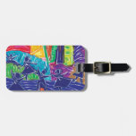 Dancing children luggage tags