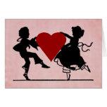 Dancing Children Valentine Greeting Card