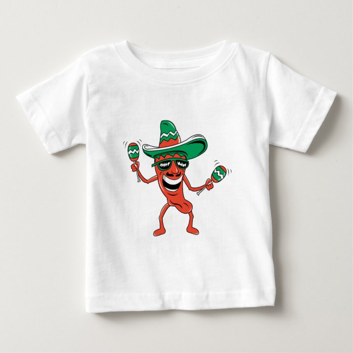 Dancing Chili Pepper Baby T-Shirt