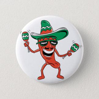 Dancing Chili Pepper Button