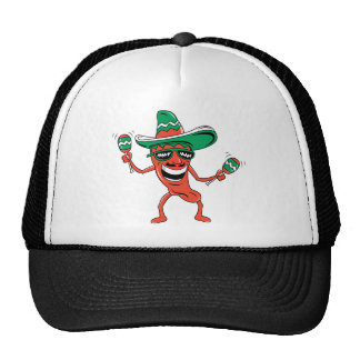 Dancing Chili Pepper Mesh Hats