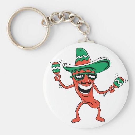 Dancing Chili Pepper Keychains