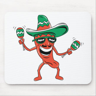 Dancing Chili Pepper Mouse Pad