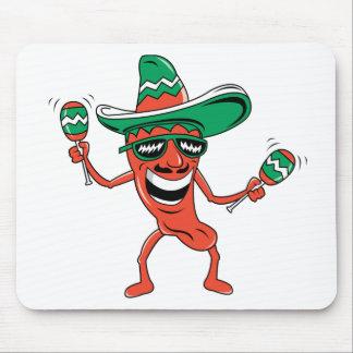 Dancing Chili Pepper Mousepad