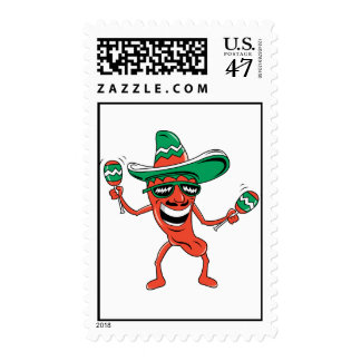 Dancing Chili Pepper Postage