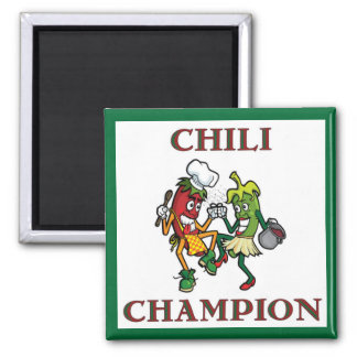 Dancing Chili Peppers  Chili Champion Magnet