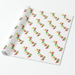 Dancing Chili Peppers with Sombreros Gift Wrap