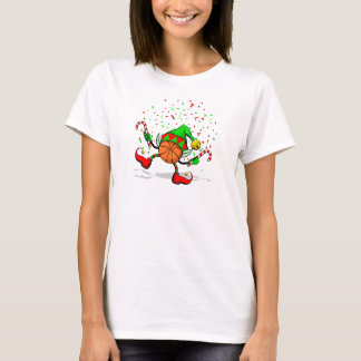 Dancing Christmas Basketball Elf T-Shirt
