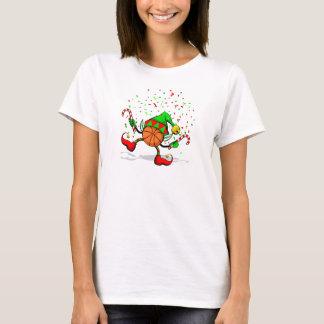 Dancing Christmas Basketball Elf T-Shirt