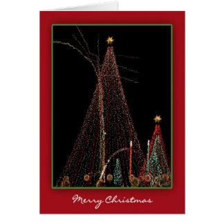 Dancing Christmas Trees Convey Holiday Cheer Card