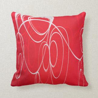 Dancing circles throw pillow