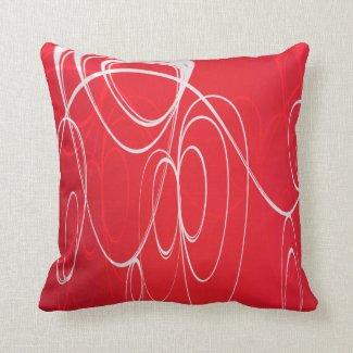 Dancing circles throw pillows
