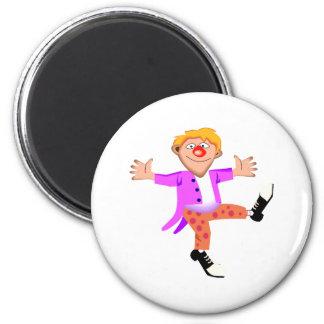 dancing clown magnet