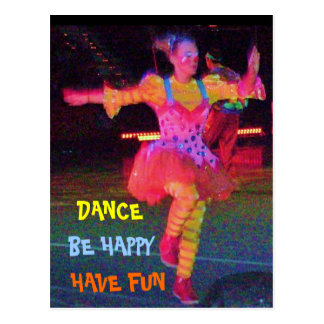 DANCING CLOWN postcard
