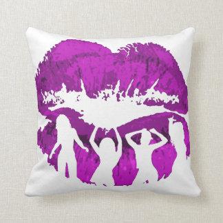 Dancing cocktail girls pillow
