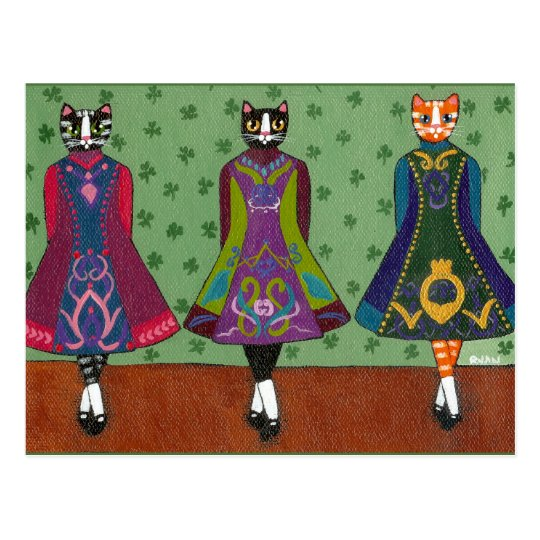 Dancing Colleens Postcard