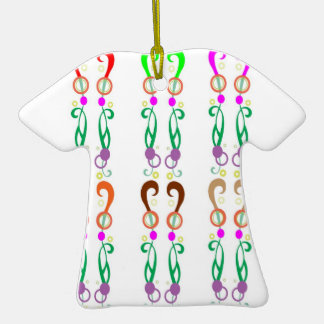 Dancing Colorful QUESTIONS Christmas Tree Ornament