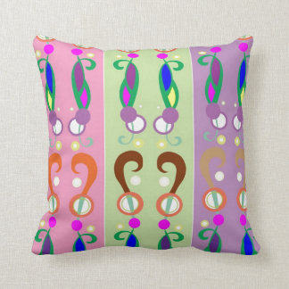 Dancing Colorful QUESTIONS Throw Pillow