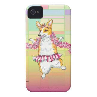 Dancing Corgi in Tutu with Feather Boa Case-Mate iPhone 4 Case